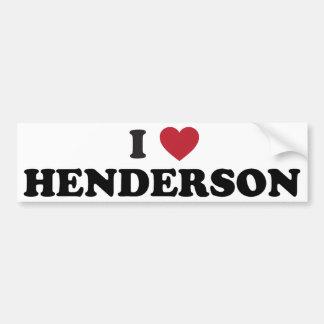 I Love Henderson Nevada Bumper Sticker