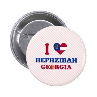 I Love Hephzibah, Georgia 2 Inch Round Button