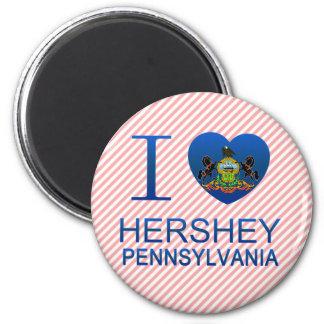I Love Hershey, PA 2 Inch Round Magnet