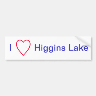 I Love Higgins Lake Bumper Sticker
