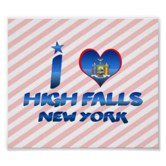 I love High Falls, New York Posters