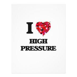 I Love High Pressure Flyer Design