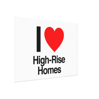 i love high-rise homes gallery wrap canvas