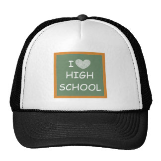 I Love High School Hats