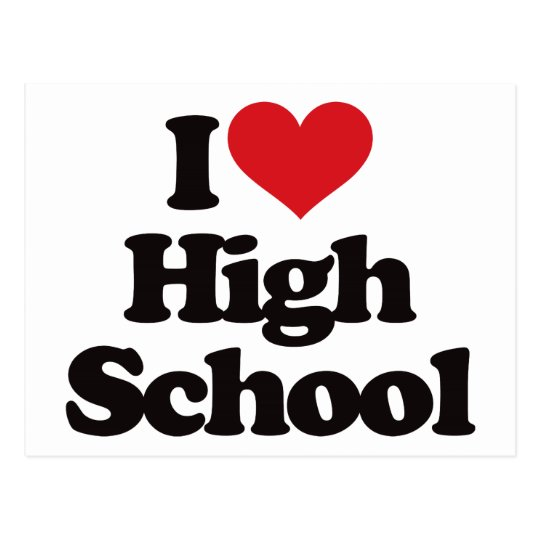 I Love High School! Postcard