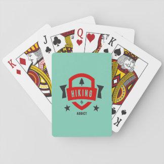 I Love Hiking ( Hike Badge ) Poker Deck