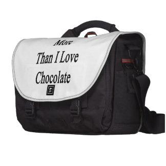 I Love Hiking More Than I Love Chocolate Computer Bag