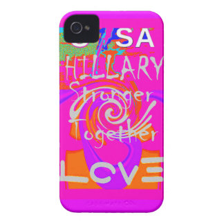 I Love Hillary USA President Stronger Together art iPhone 4 Case-Mate Cases