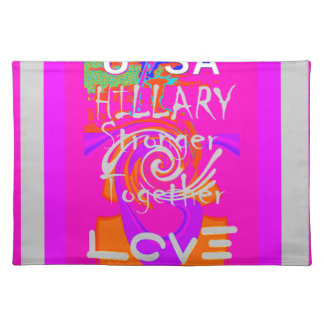I Love Hillary USA President Stronger Together art Placemat