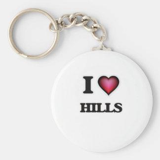 I love Hills Basic Round Button Keychain