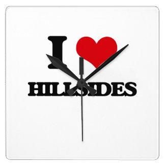 I love Hillsides Square Wallclock