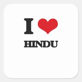 I love Hindu Square Sticker
