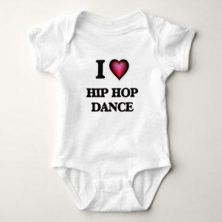 I Love Hip Hop Dance Baby Bodysuit