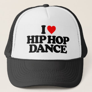 I LOVE HIP HOP DANCE TRUCKER HAT