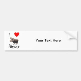 I Love Hippos (2) Bumper Sticker