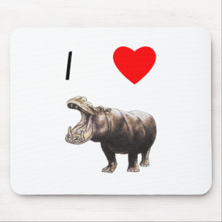 I Love Hippos (4) Mouse Pad
