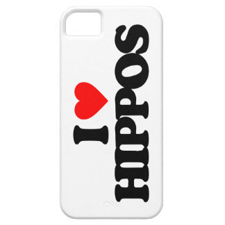 I LOVE HIPPOS iPhone 5 CASE