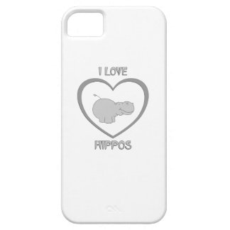 I Love Hippos iPhone 5 Cover