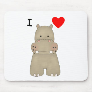 I Love Hippos Mouse Pad