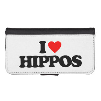 I LOVE HIPPOS PHONE WALLET CASE
