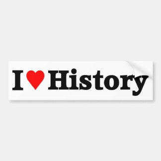 I love History Bumper Sticker