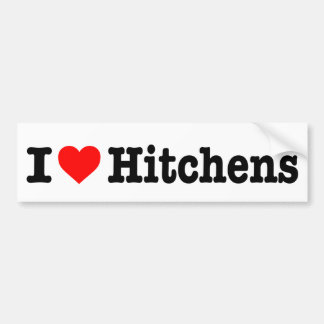 """I LOVE HITCHENS"" BUMPER STICKER"