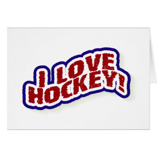 I Love Hockey Card