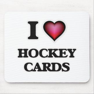 I Love Hockey Cards Mouse Pad