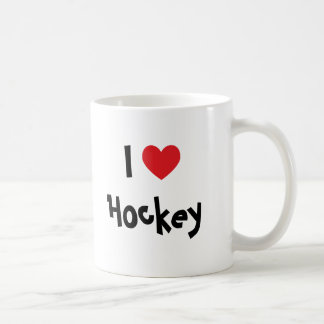 I Love Hockey Coffee Mug