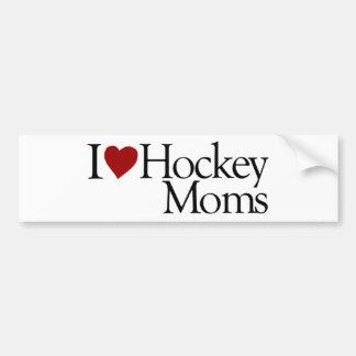 I Love Hockey Moms (Sarah Palin) Bumper Sticker