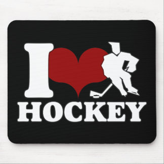 I LOVE HOCKEY MOUSEPAD