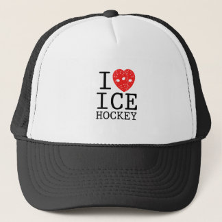 I Love Hockey Trucker Hat