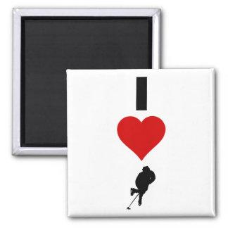 I Love Hockey (Vertical) Magnet