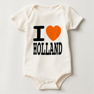 I Love Holland Baby Bodysuit