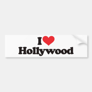 I Love Hollywood Bumper Sticker