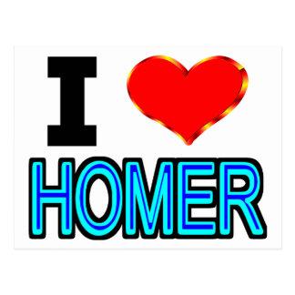 I Love Homer Postcard