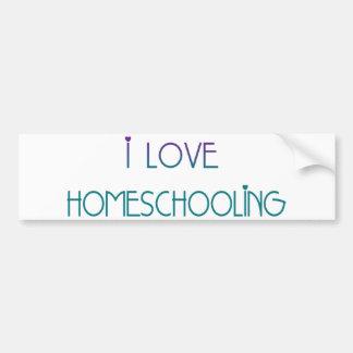 i Love Homeschooling Bumper Sticker