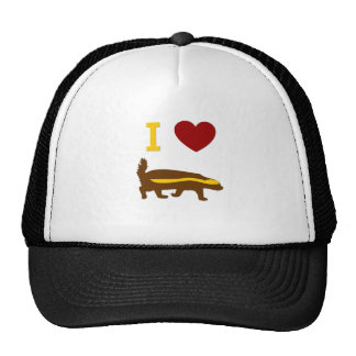 I Love Honey Badger Trucker Hat