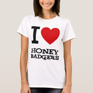 I Love Honey Badgers Ladies Spaghetti Top