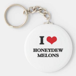I Love Honeydew Melons Keychain