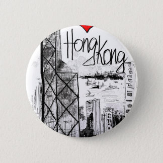I love Hong Kong 2 Inch Round Button