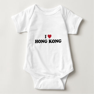 I Love Hong Kong Baby Bodysuit