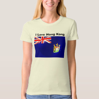 I Love Hong Kong Tee Shirt Old Hong Kong Flag