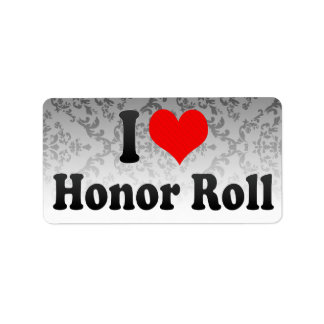 I love Honor Roll Labels