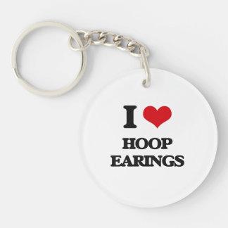 I love HOOP EARINGS Key Chain