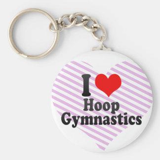 I love Hoop Gymnastics Keychain