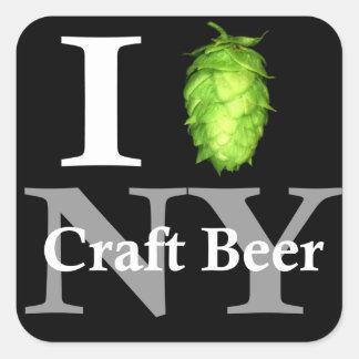 I love hop NY craft beer Square Sticker