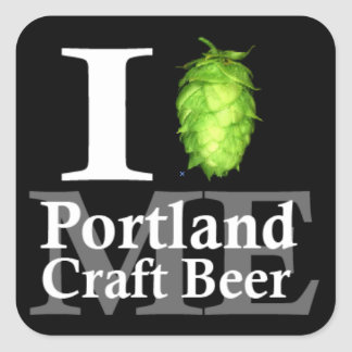 I love (hop) Portland, ME craft beer! Square Sticker