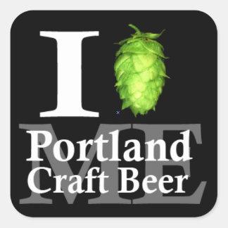 I love (hop) Portland, ME craft beer! Square Sticker