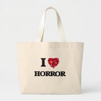 I Love Horror Jumbo Tote Bag